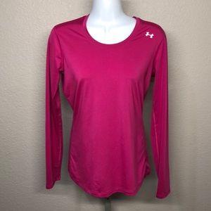 Under Armour Heat Gear Hot Pink Long-sleeve Top